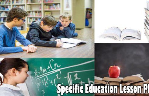 Specific Education Lesson Plans